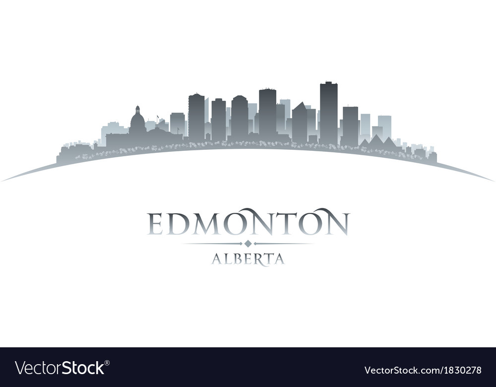 Edmonton alberta canada city skyline silhouette vector | Price: 1 Credit (USD $1)