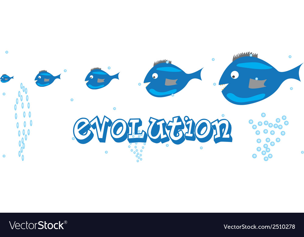 Fish evolution vector | Price: 1 Credit (USD $1)