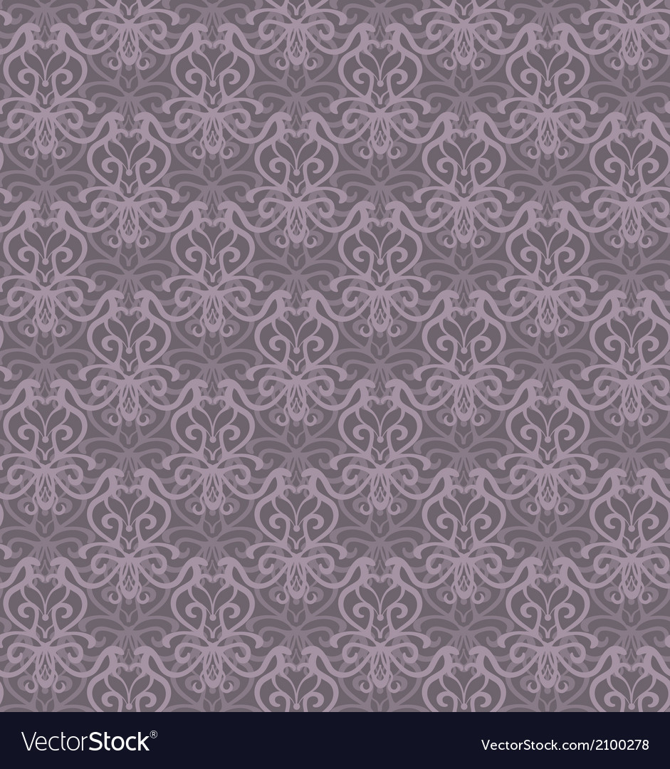 Intricate violet grey luxury seamless pattern on vector | Price: 1 Credit (USD $1)