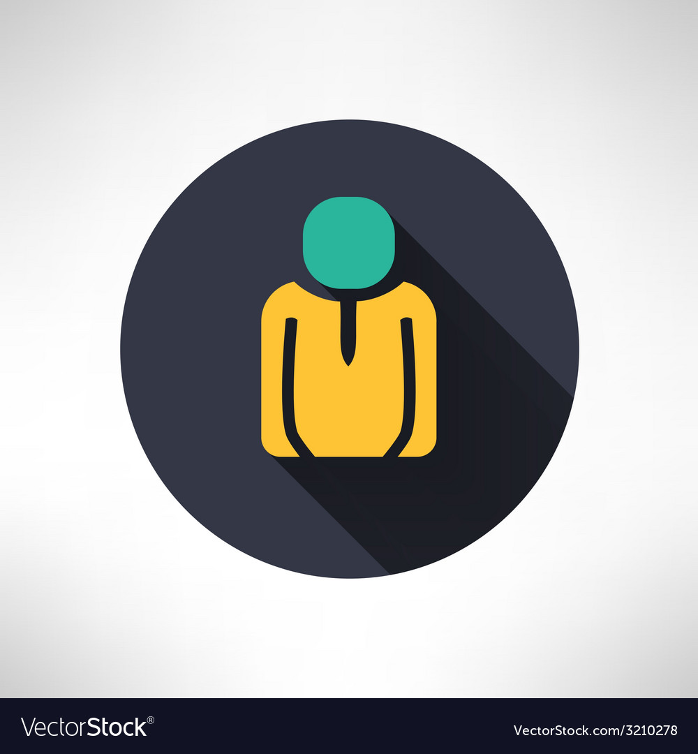 Man icon in modern flat design person silhouette vector | Price: 1 Credit (USD $1)
