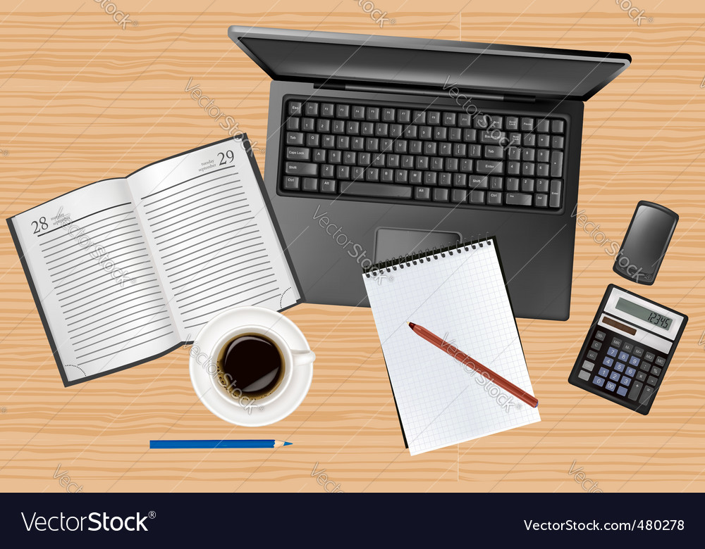 Notebook and phone vector | Price: 3 Credit (USD $3)