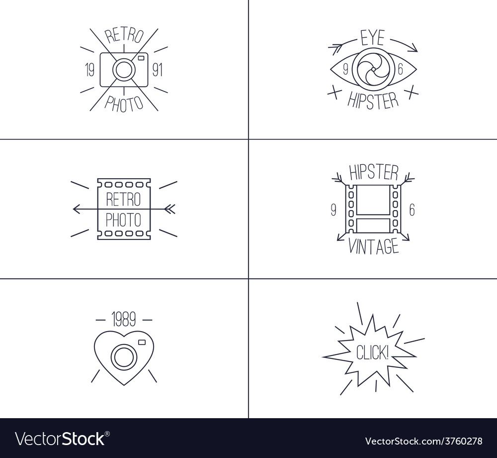 Set of hipster badges vector | Price: 1 Credit (USD $1)
