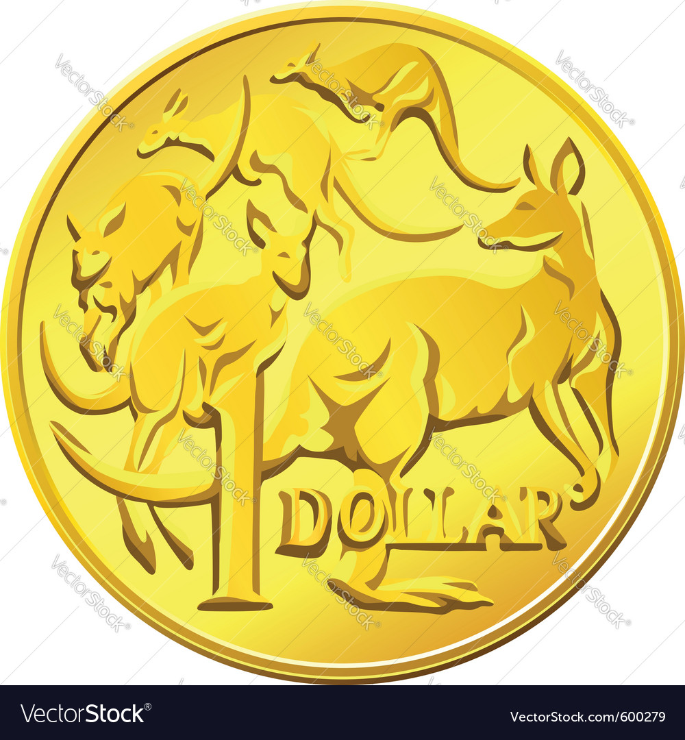 Australian one dollar coin vector | Price: 1 Credit (USD $1)
