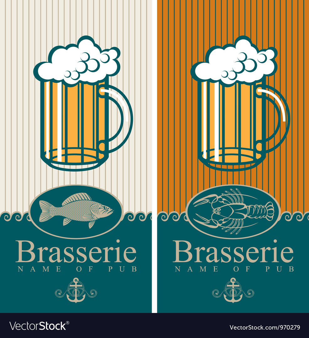 Beer and seafood vector | Price: 3 Credit (USD $3)