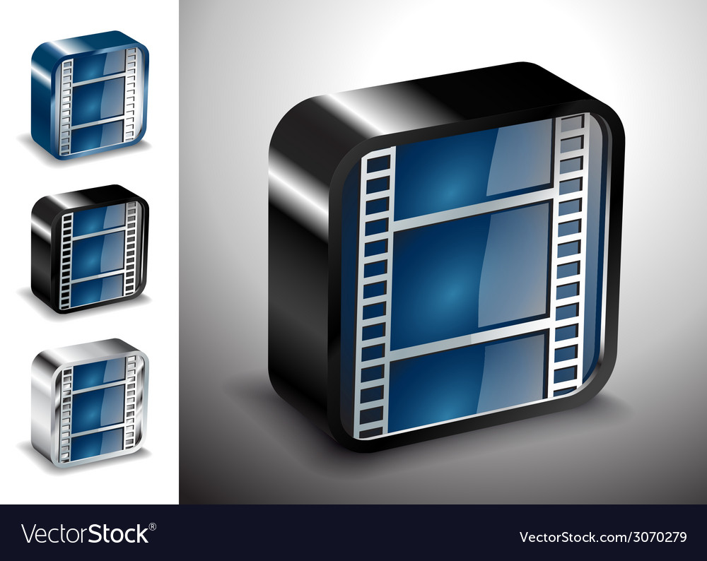Button icons multimedia cinema media vector | Price: 1 Credit (USD $1)