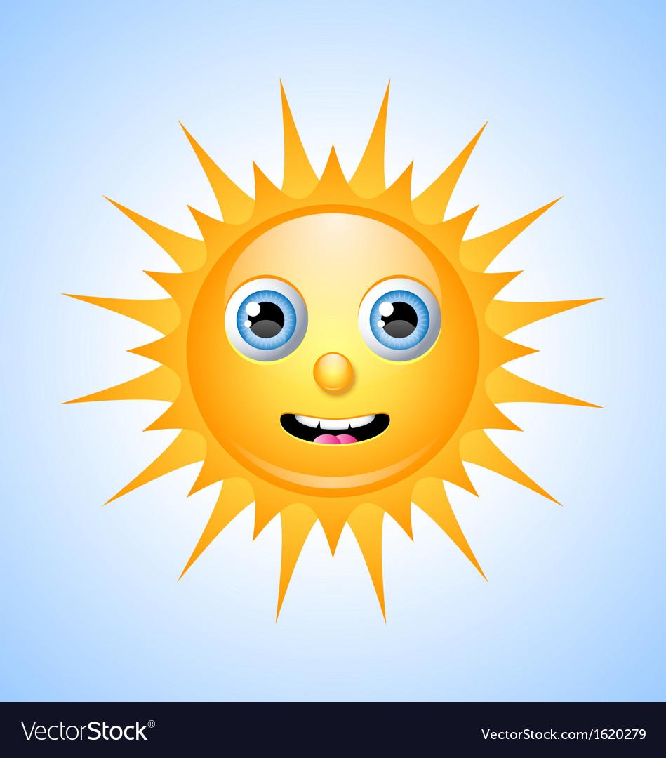 Cute sun character vector