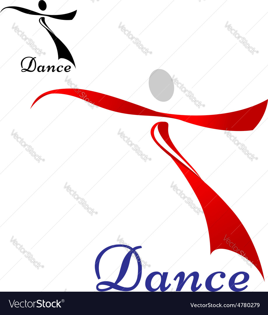 Dancing woman abstract icon or symbol vector | Price: 1 Credit (USD $1)