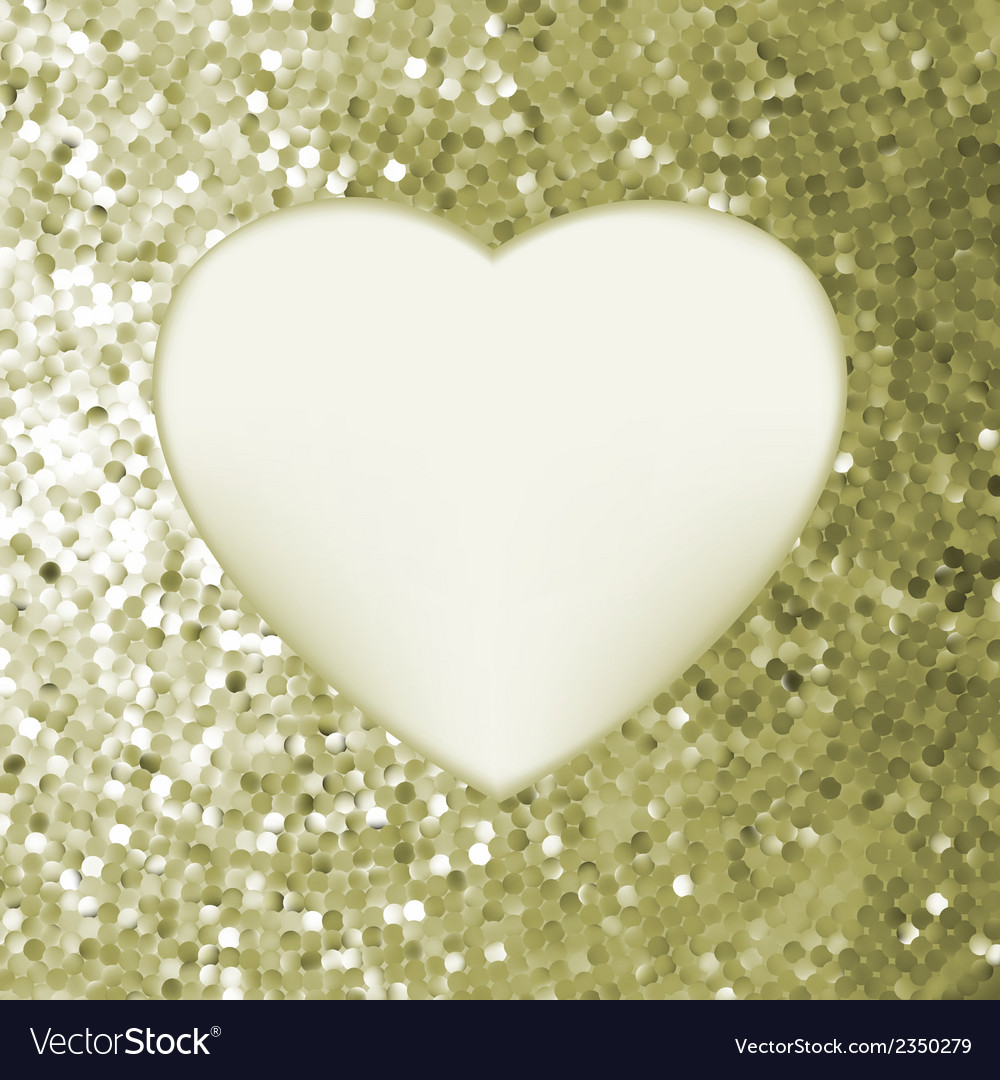 Elegant mosaic glowing heart background eps 8 vector | Price: 1 Credit (USD $1)