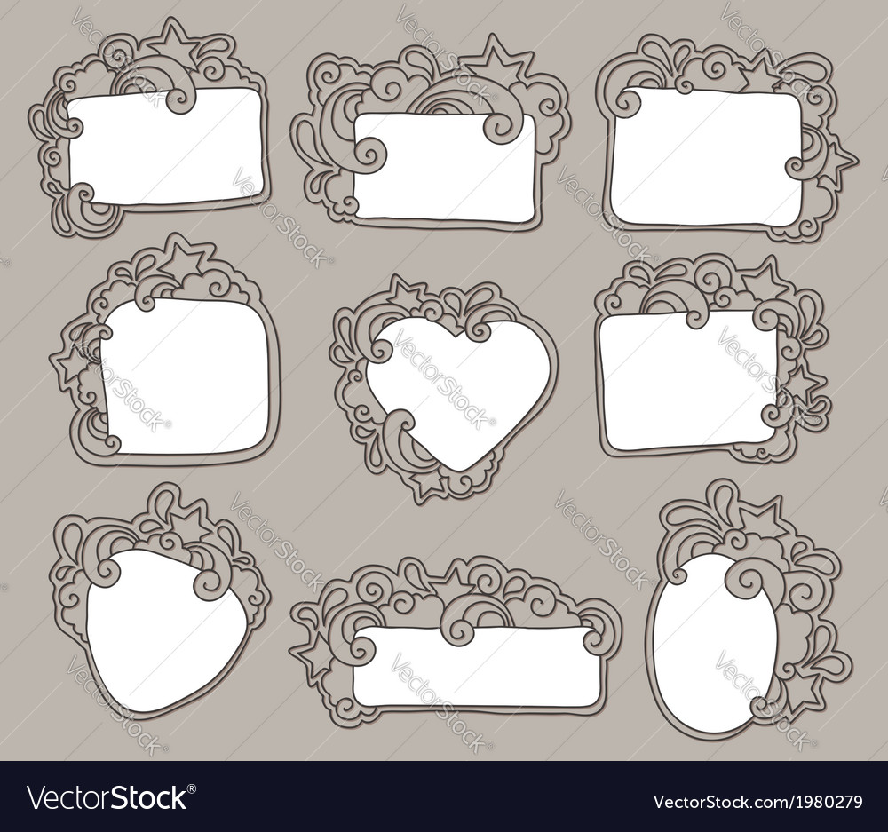 Funky frames set vector | Price: 1 Credit (USD $1)