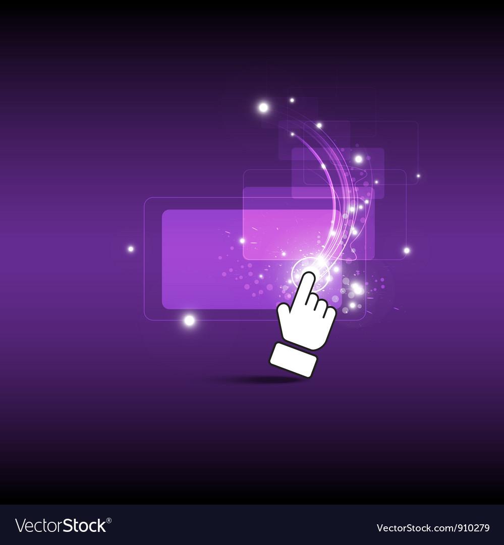 Hand drag magic button vector   Price: 1 Credit (USD $1)