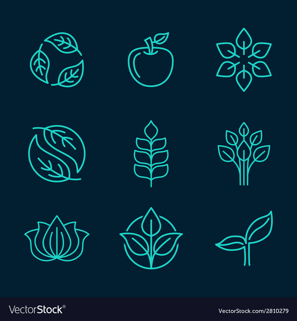 Organic logos vector | Price: 1 Credit (USD $1)