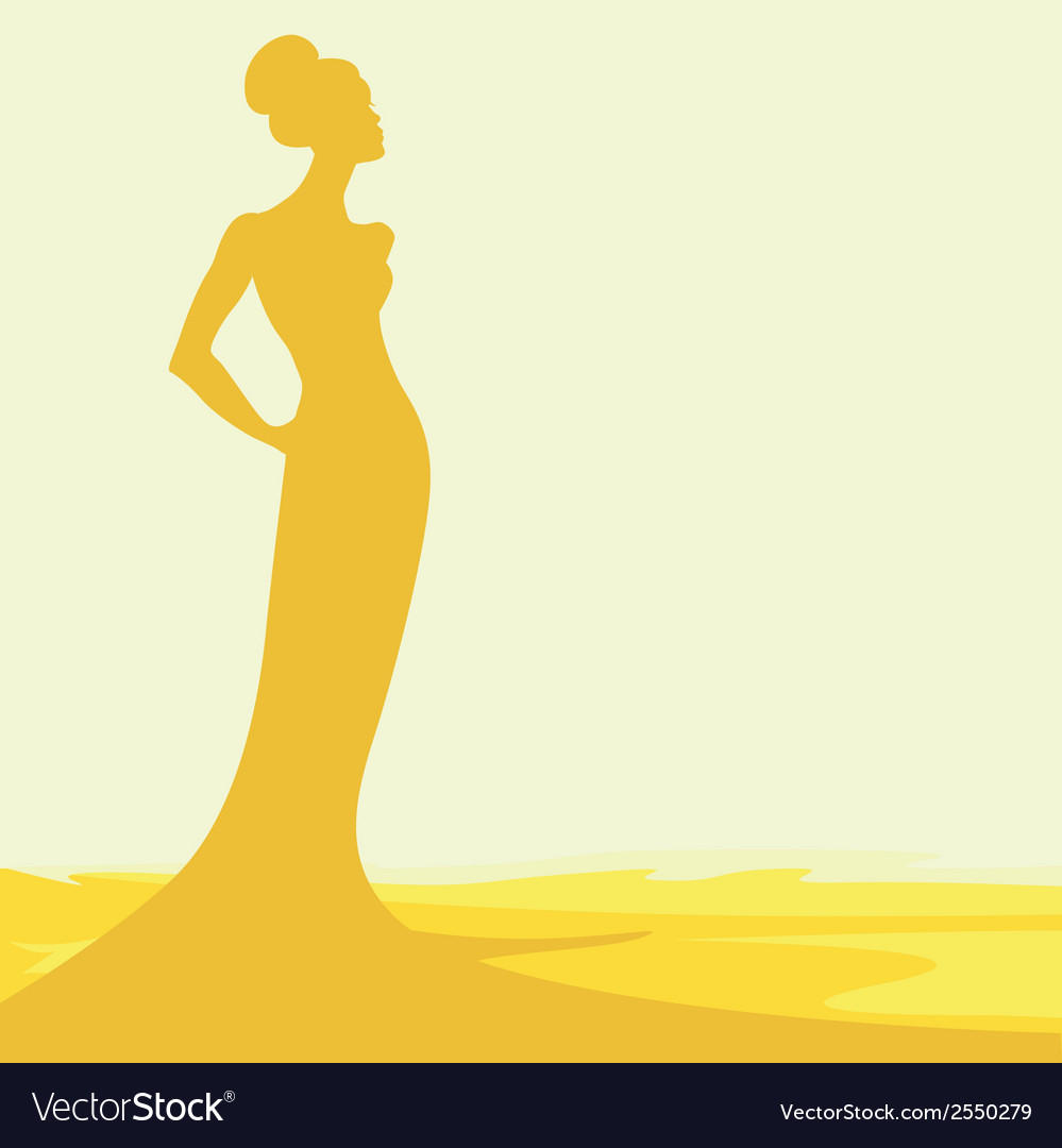 Silhouette of woman vector | Price: 1 Credit (USD $1)