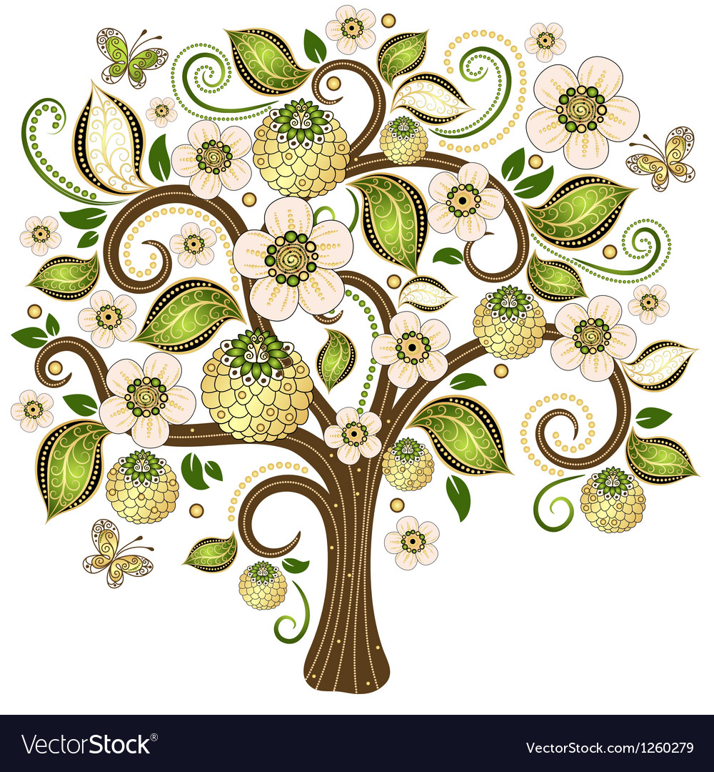 Spring isolated tree vector | Price: 3 Credit (USD $3)