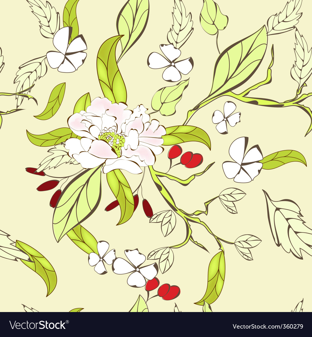 Summer floral pattern vector | Price: 1 Credit (USD $1)
