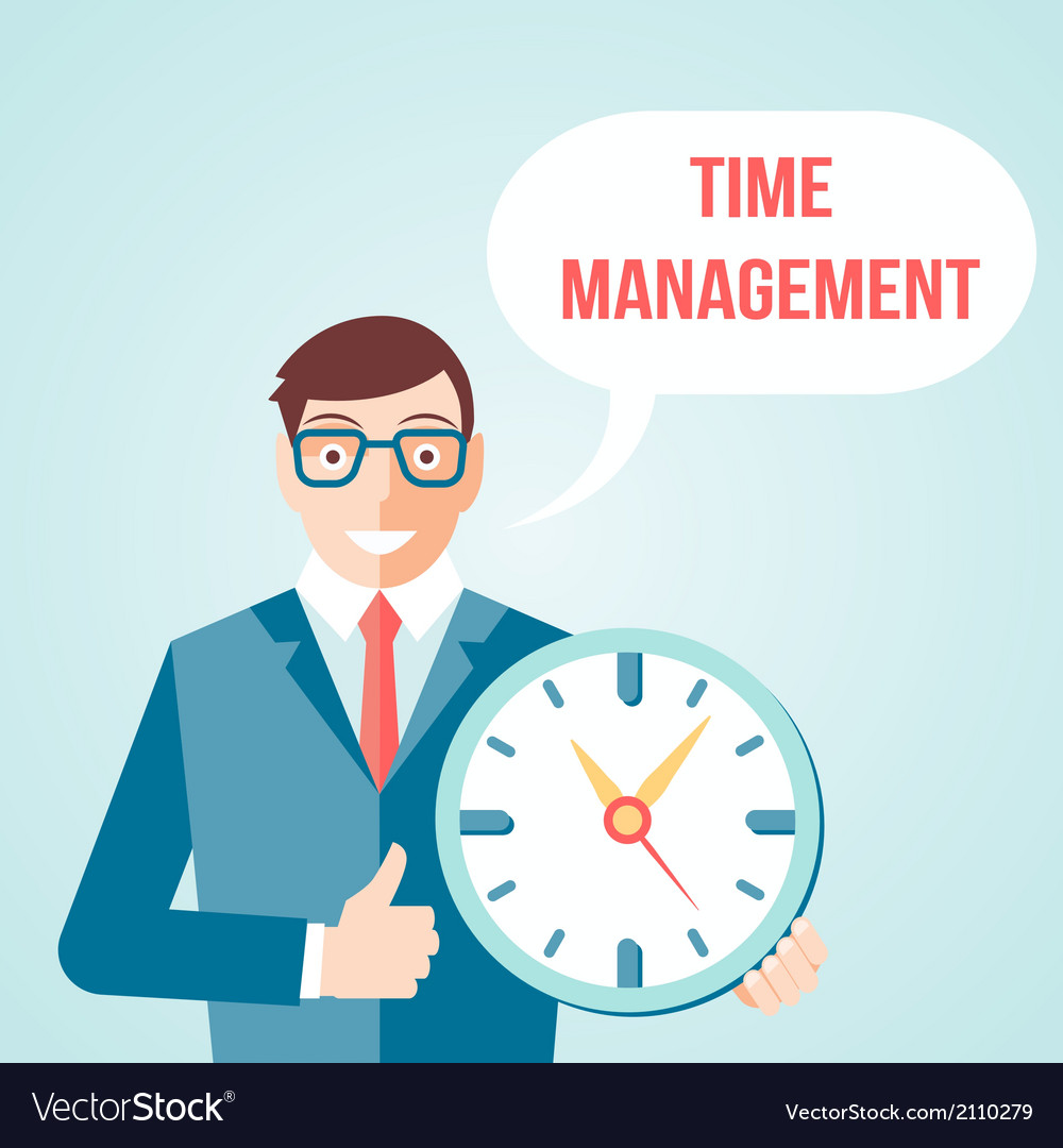 Time management poster vector | Price: 1 Credit (USD $1)