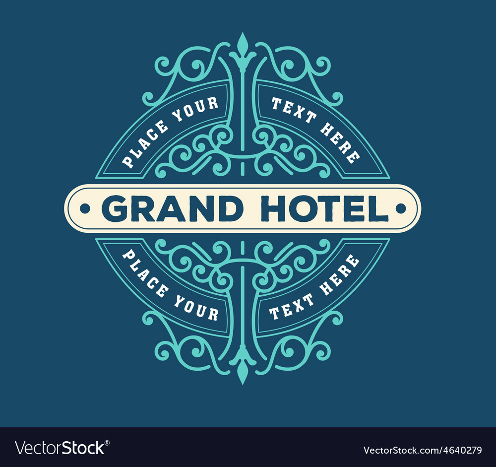 Vintage logo template hotel restaurant business vector | Price: 1 Credit (USD $1)
