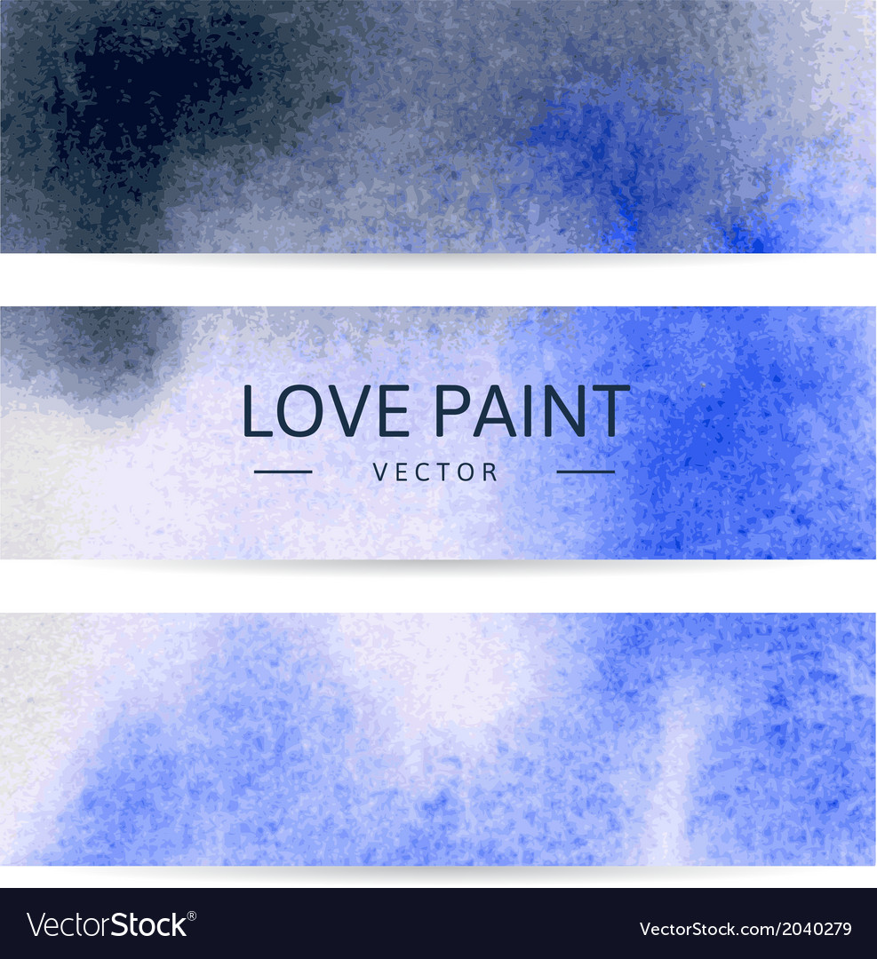 Watercolor abstract banners vector | Price: 1 Credit (USD $1)