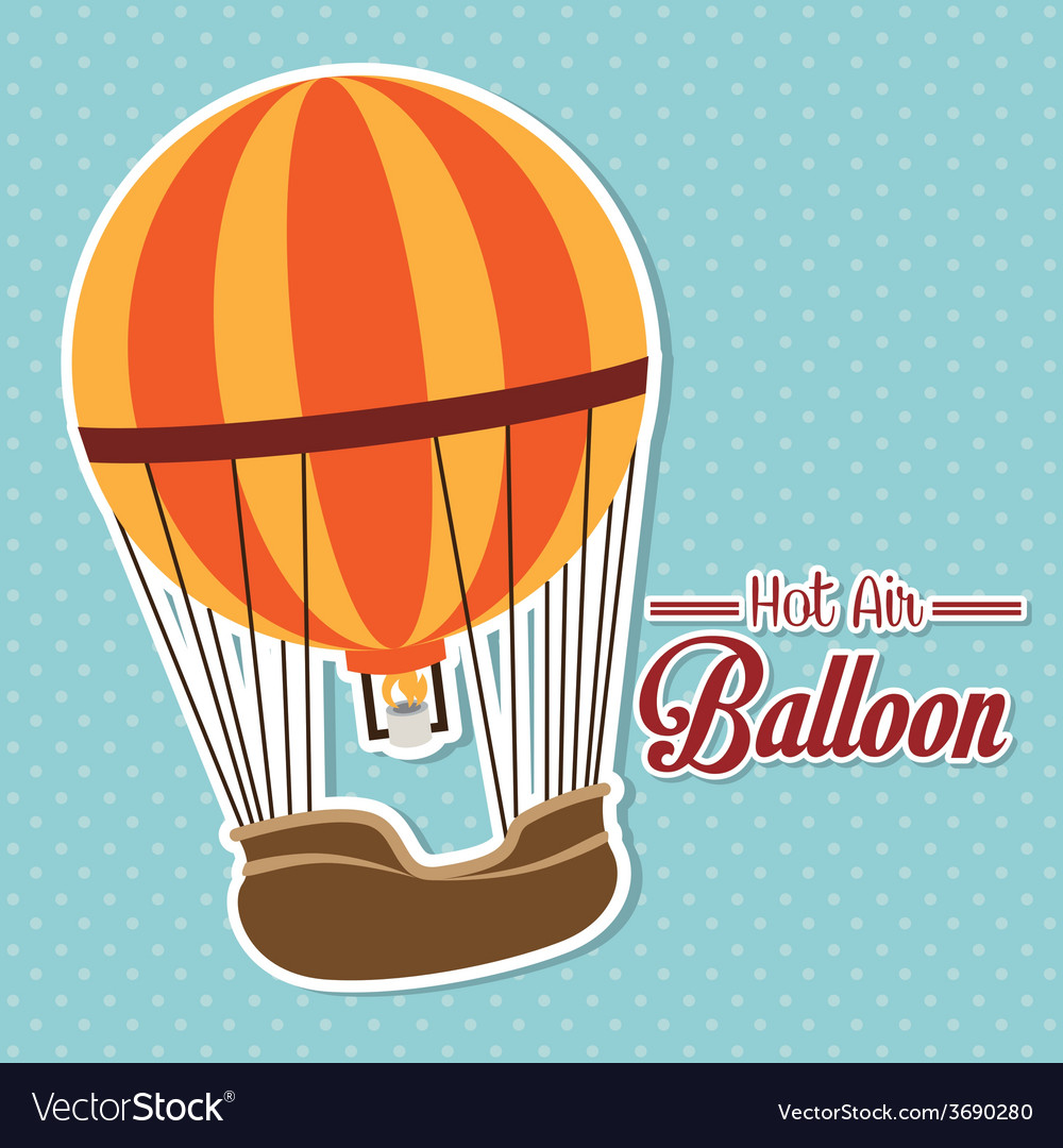 Airballoon design over blue background vector | Price: 1 Credit (USD $1)