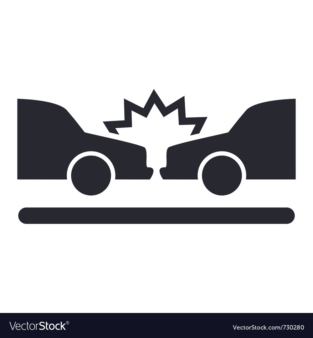 Car crash icon vector | Price: 1 Credit (USD $1)