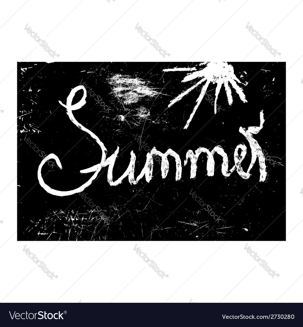 Chalk texture word summer vector | Price: 1 Credit (USD $1)