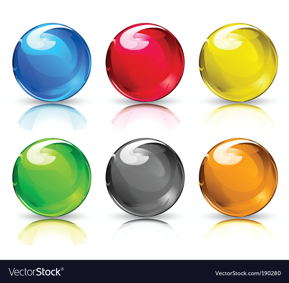 Glass balls vector | Price: 1 Credit (USD $1)