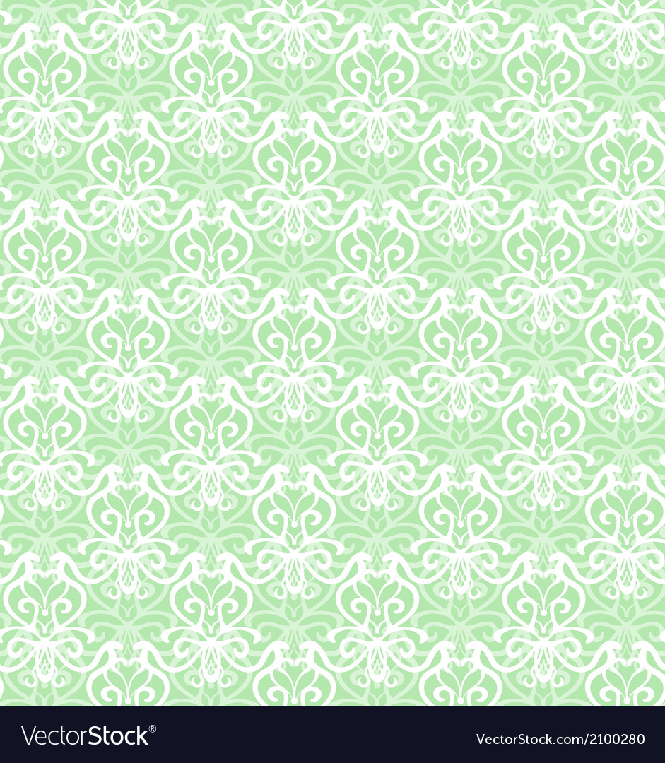 Intricate white luxury seamless pattern on green vector | Price: 1 Credit (USD $1)