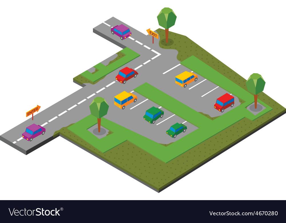 Parking area vector | Price: 1 Credit (USD $1)