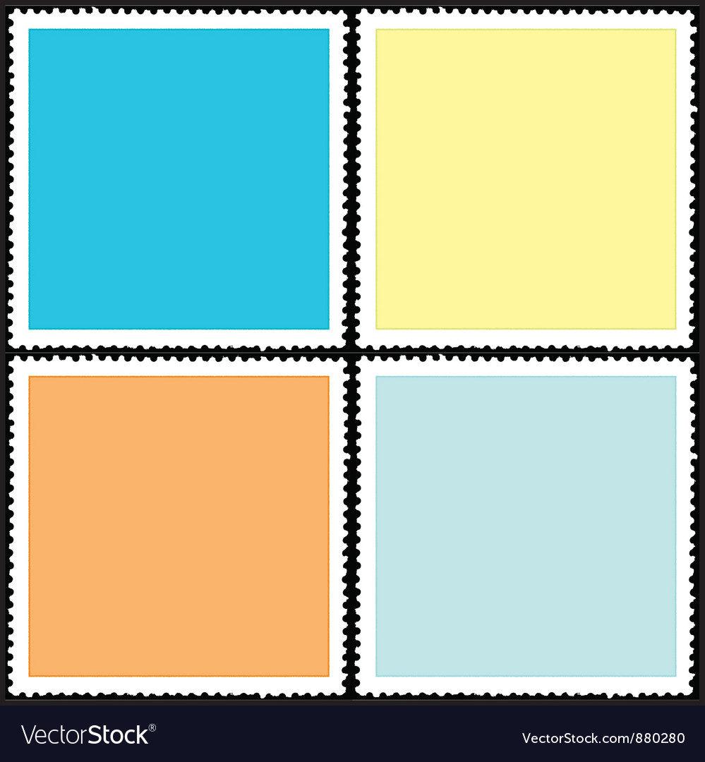 Postage stamp icon vector | Price: 1 Credit (USD $1)
