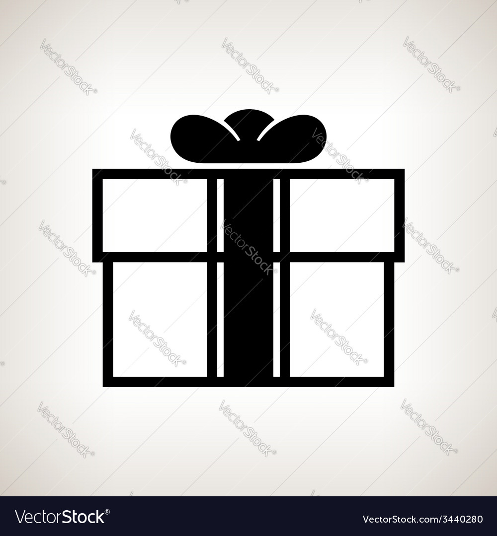 Silhouette gift box on a light background vector | Price: 1 Credit (USD $1)