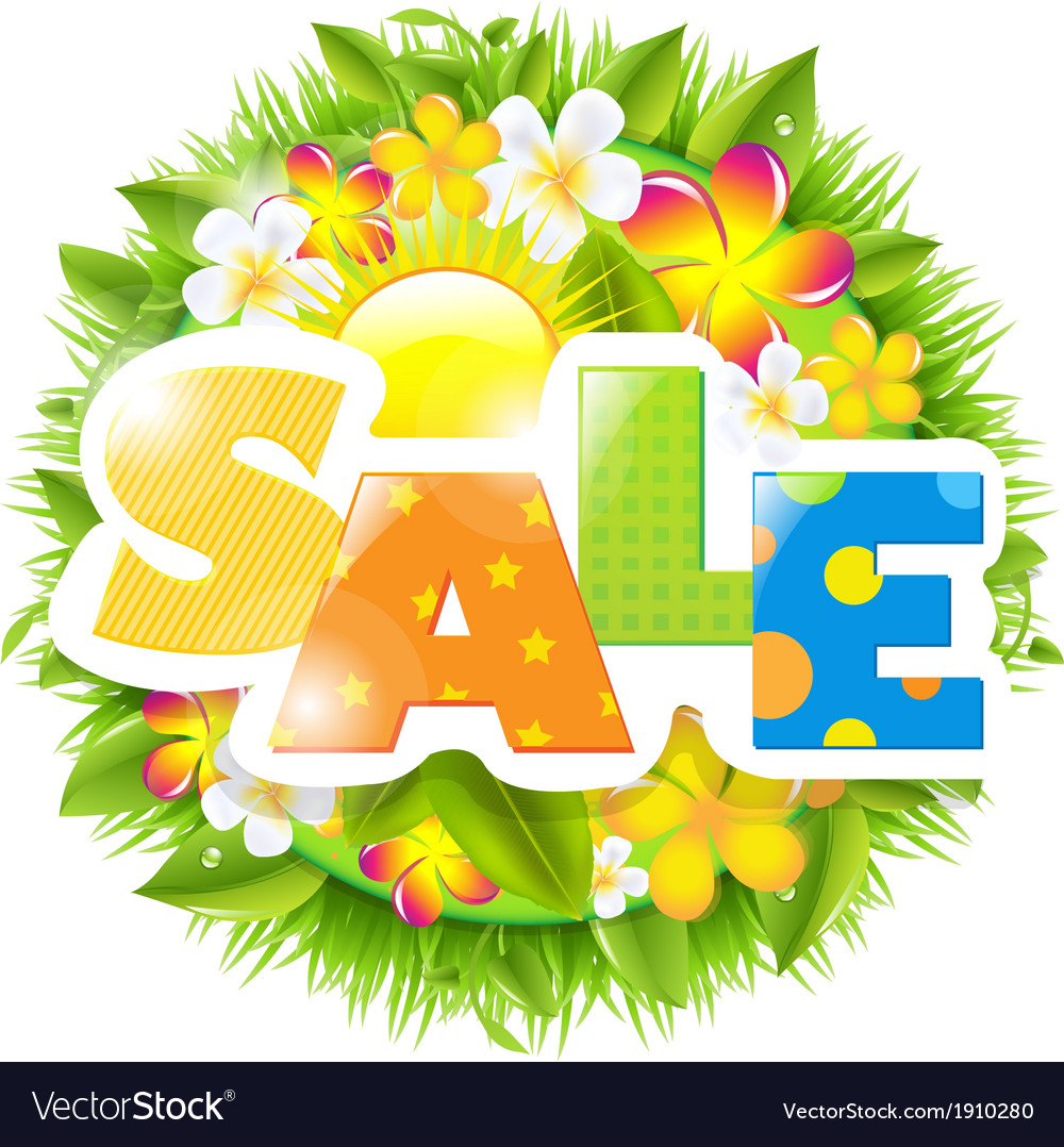 Summer and spring sale template vector | Price: 1 Credit (USD $1)