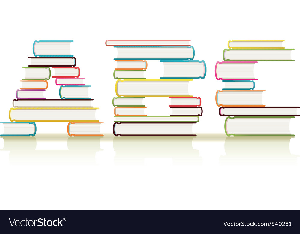 Abc books vector | Price: 1 Credit (USD $1)