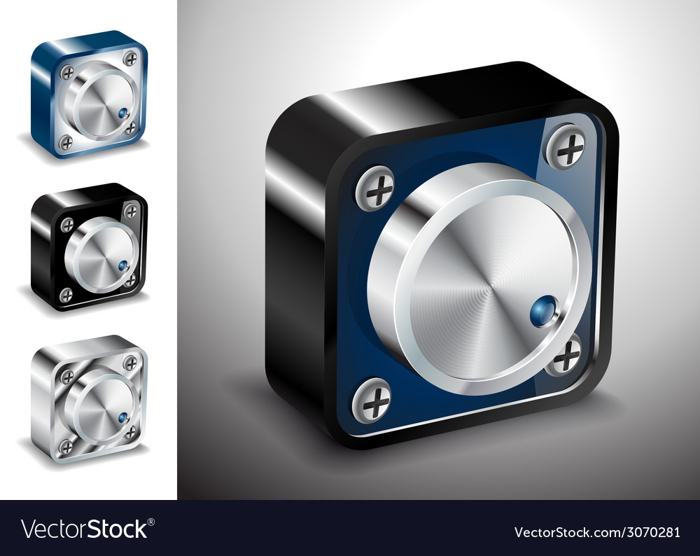 Button icons 3d voice sound vector | Price: 1 Credit (USD $1)
