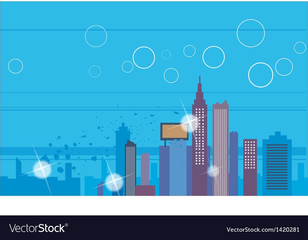 Creative cityscape scene vector | Price: 1 Credit (USD $1)