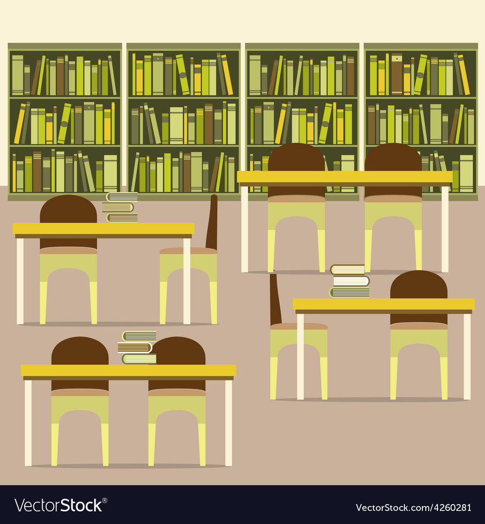 Empty reading seats in a library vector | Price: 1 Credit (USD $1)