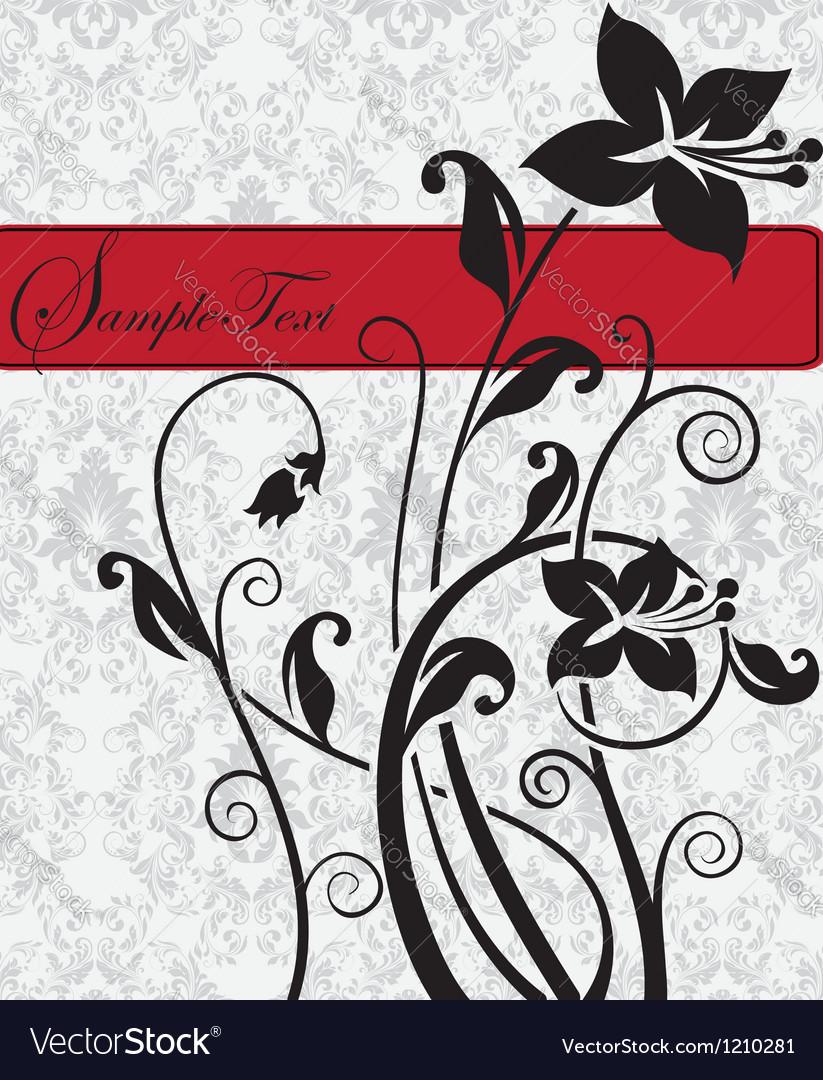 Floral invitation card vector | Price: 1 Credit (USD $1)