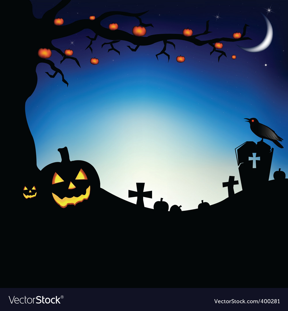 Halloween scene vector   Price: 1 Credit (USD $1)