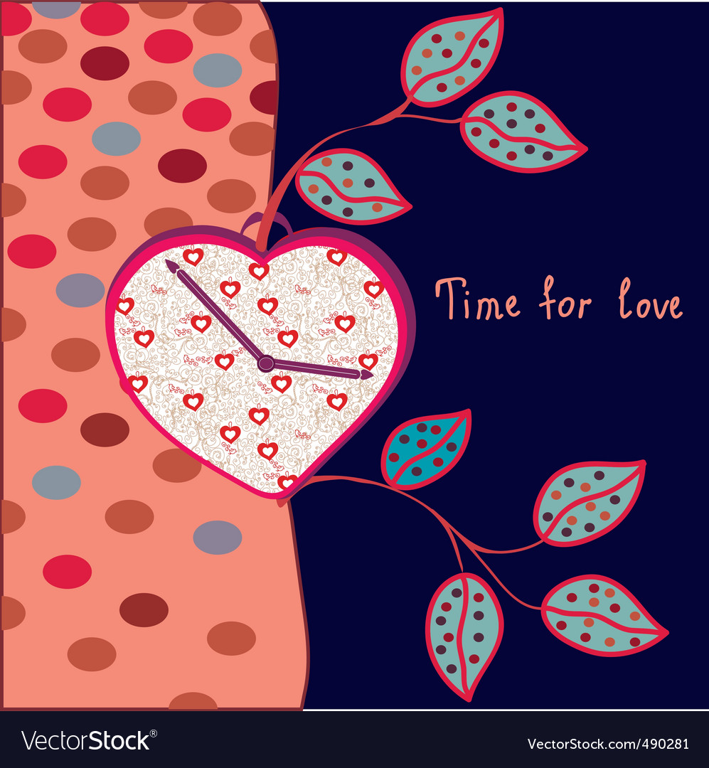 Love clock vector | Price: 1 Credit (USD $1)