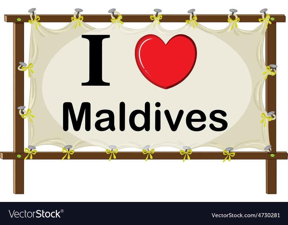 Maldives vector   Price: 1 Credit (USD $1)