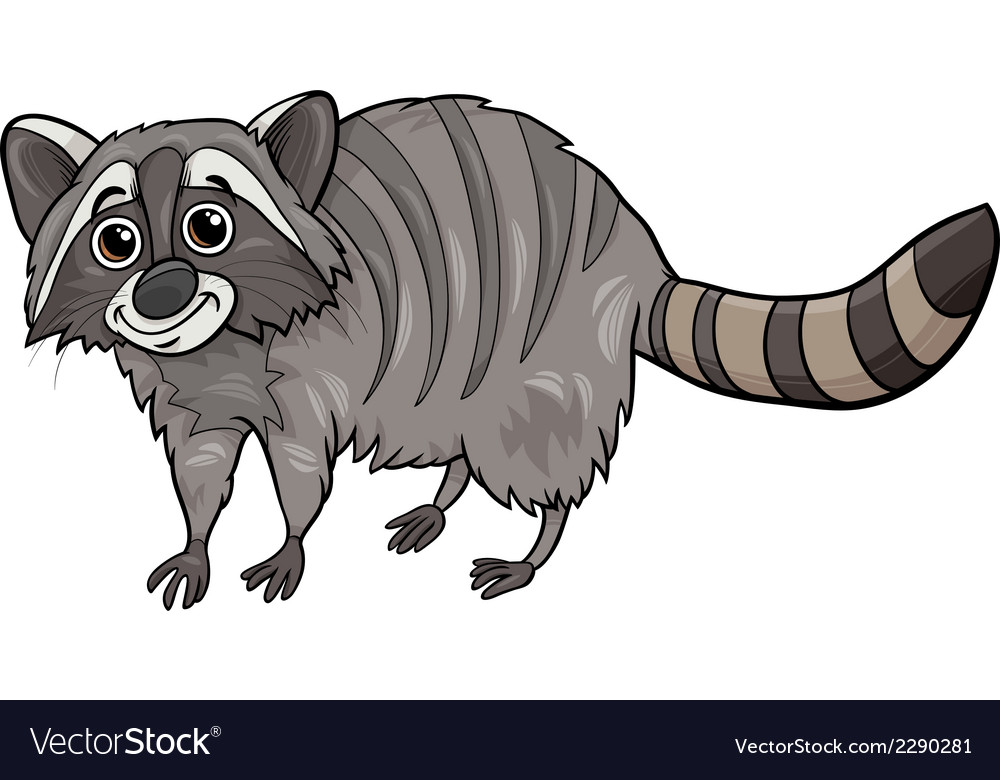 Raccoon animal cartoon vector | Price: 1 Credit (USD $1)