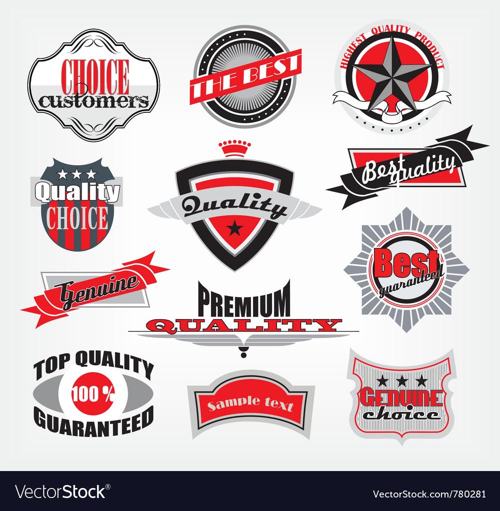 Retro style emblems vector | Price: 1 Credit (USD $1)