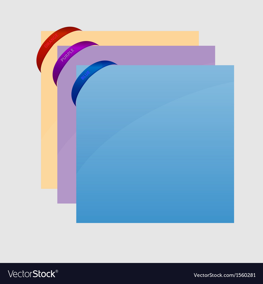 Rubber band corner with sheet on gray background vector | Price: 1 Credit (USD $1)