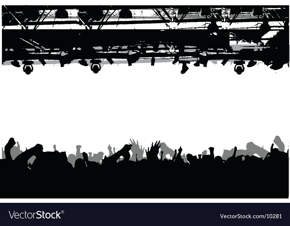 Show crowd silhouette vector | Price: 1 Credit (USD $1)