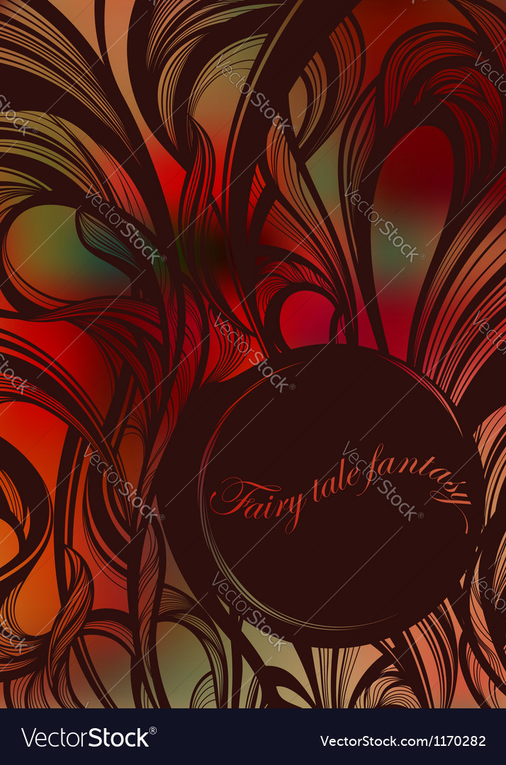 Abstract fairy tale curls vector | Price: 1 Credit (USD $1)