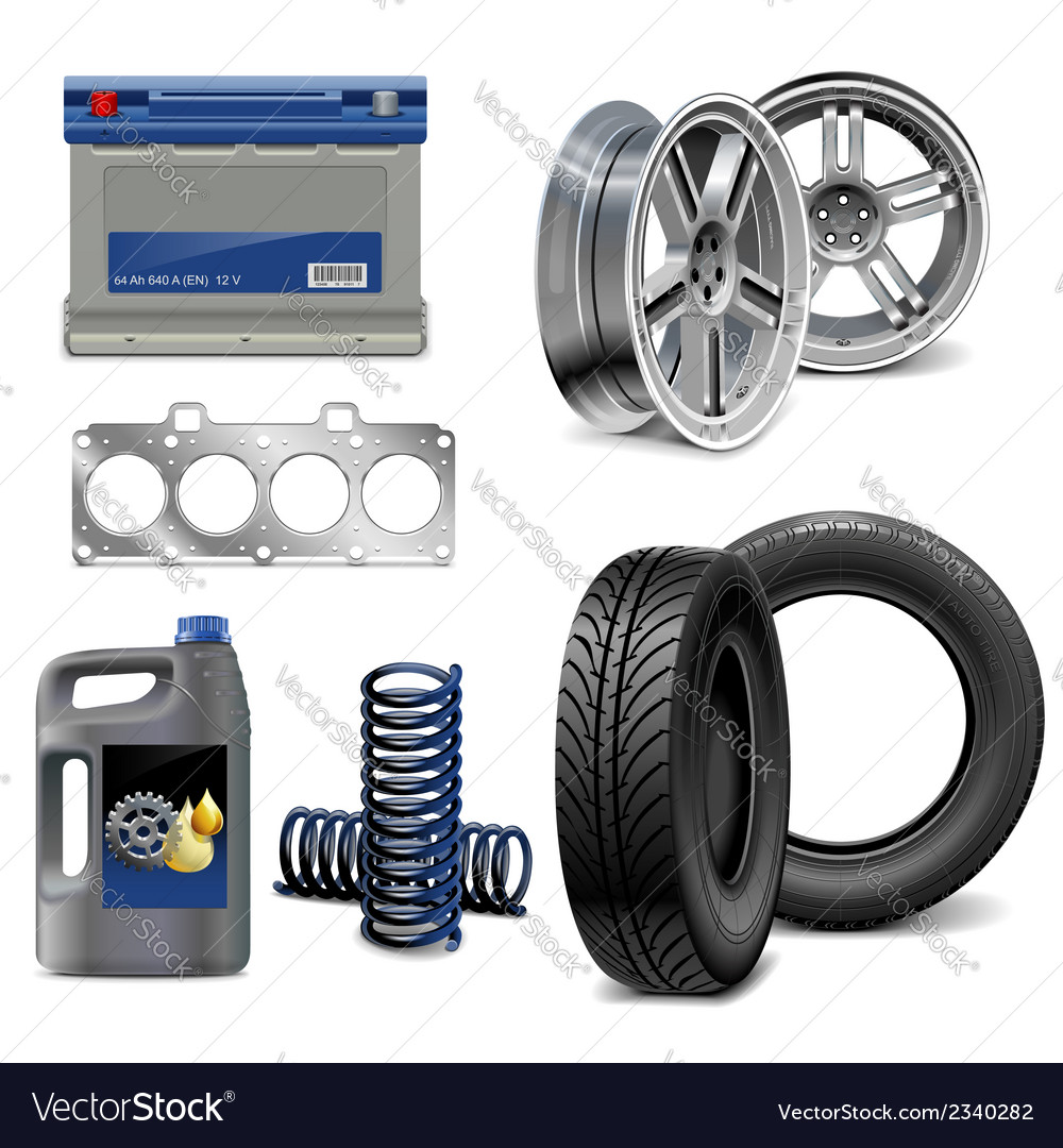 Auto parts vector | Price: 1 Credit (USD $1)