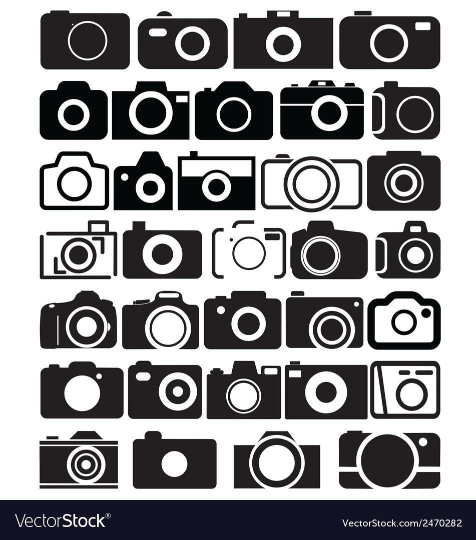 Camera icons vector | Price: 1 Credit (USD $1)