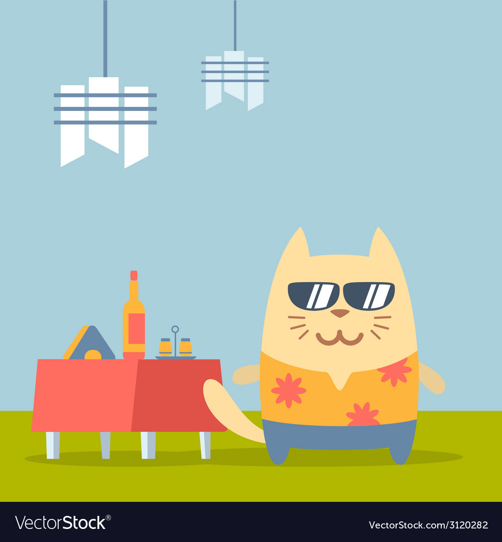 Character tourist wearing sunglasses and a shirt vector | Price: 1 Credit (USD $1)