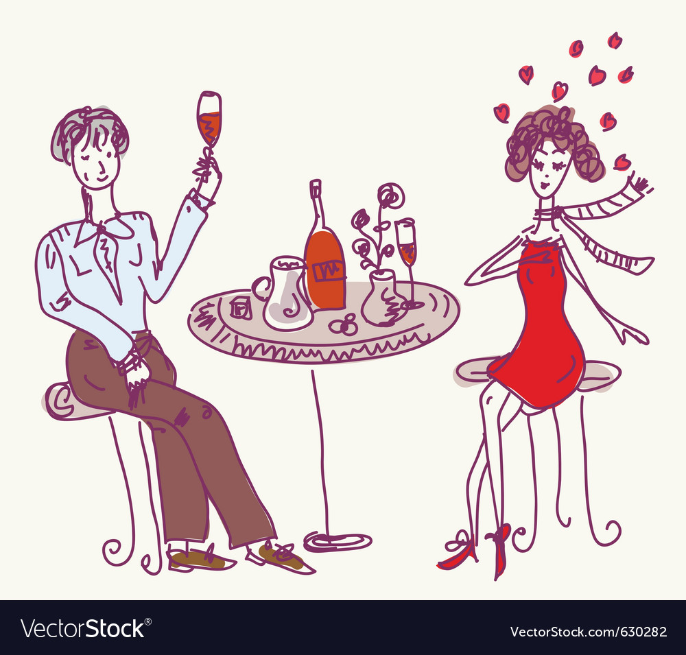 Dinner date vector | Price: 1 Credit (USD $1)