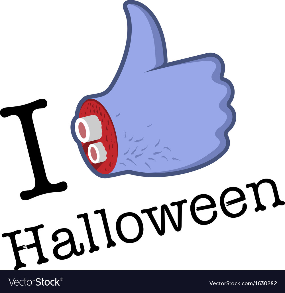 Halloween likethumbs up symbol vector | Price: 1 Credit (USD $1)