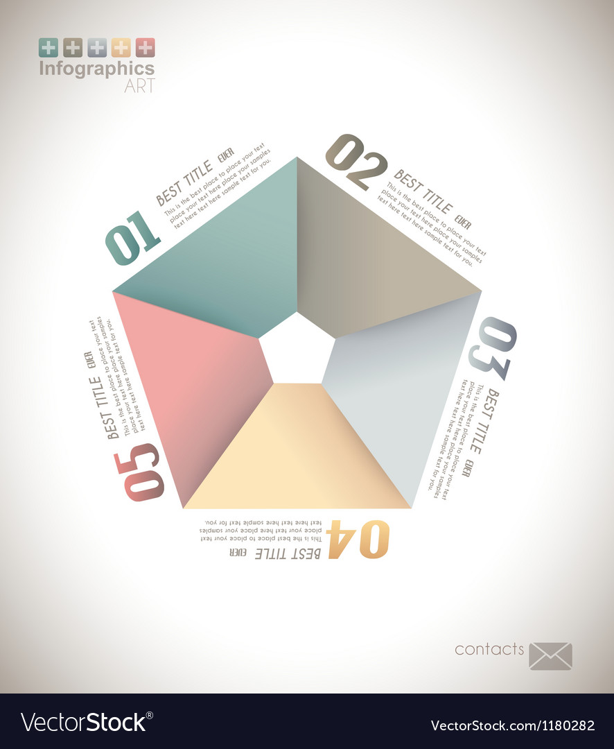 Infographic design - original paper vector | Price: 1 Credit (USD $1)
