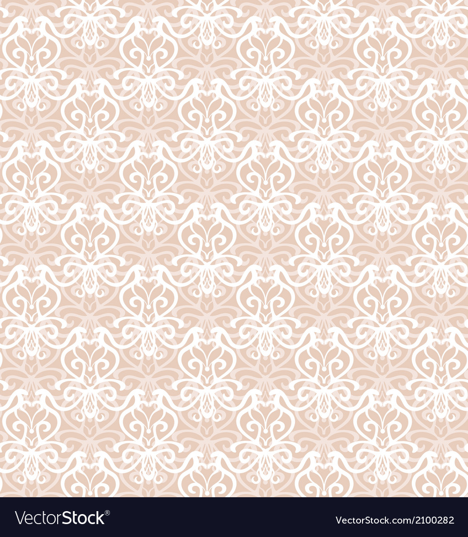 Intricate white luxury seamless pattern on pink vector | Price: 1 Credit (USD $1)